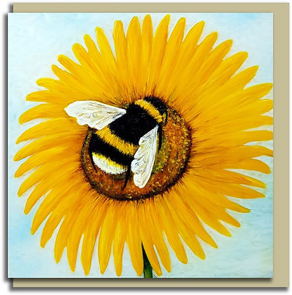 Eco Greetings card: Bee Happy