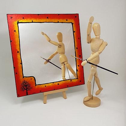 Square mirror: Orange Tree