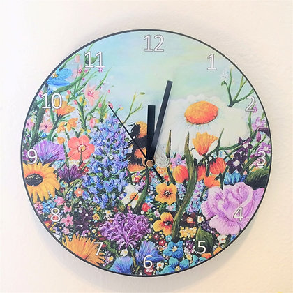 Clock: Bee Colourful
