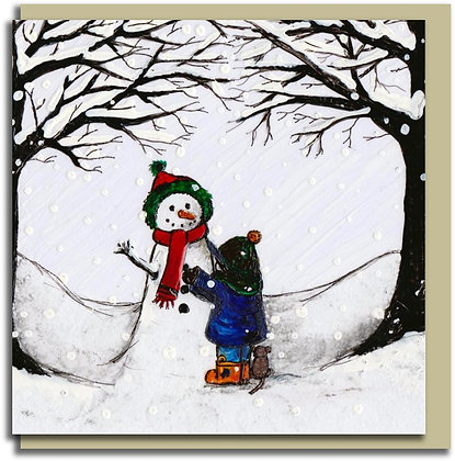 Eco Christmas card: Dexter & the Snowman