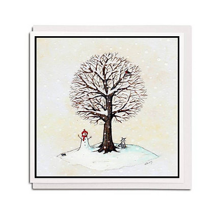 Greetings card: Tree for all Seasons ~ Winter