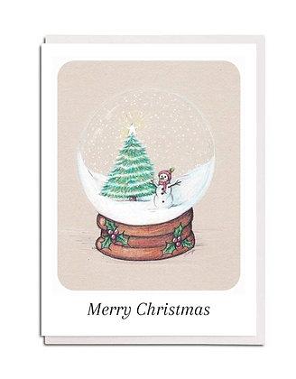 Christmas card: Snowglobe ~ Christmas Time