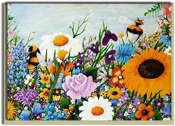 Eco Greetings card: Bee Colourful