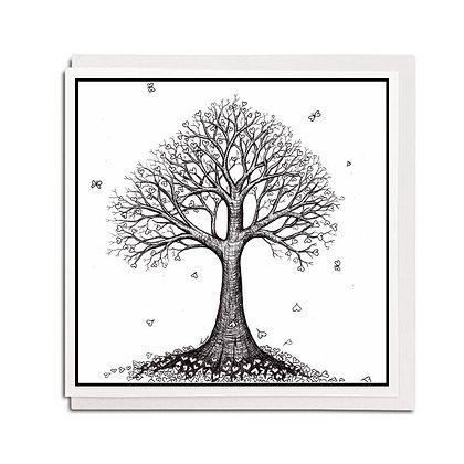 Greetings card: Heart Tree