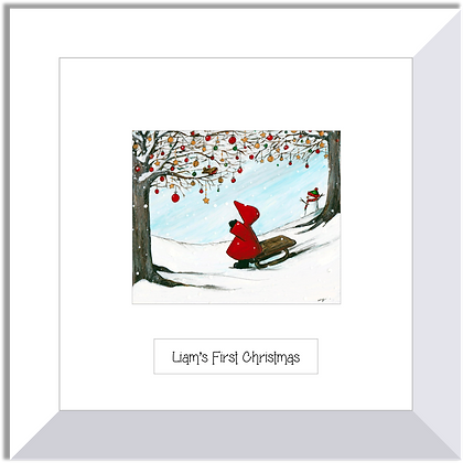 Red Hood print ~ White Christmas