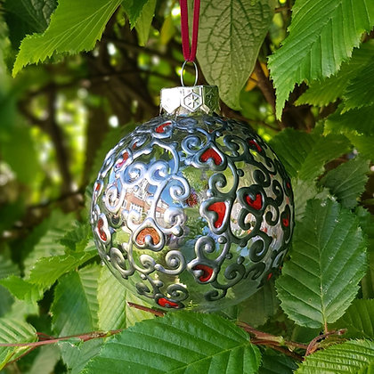 Bauble: Red Swirl
