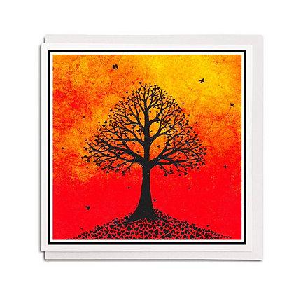 Greetings card: Leaves of Love