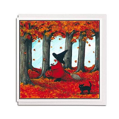 Greetings card: Red Hood ~ Trick or Treat