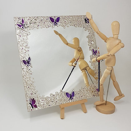Square mirror: Butterfly