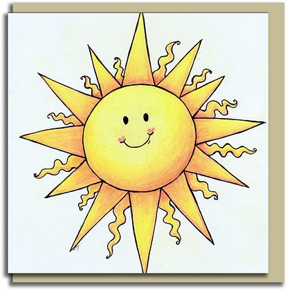 Eco Greetings card: Sunshine