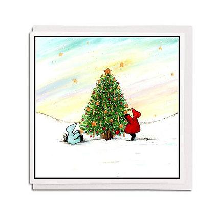 Christmas card: Red Hood ~ Little Stars