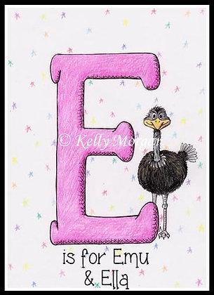 Alphabet print: E is for...
