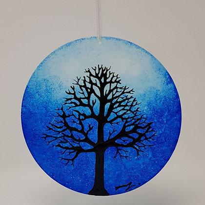 Large suncatcher: Blue Tree