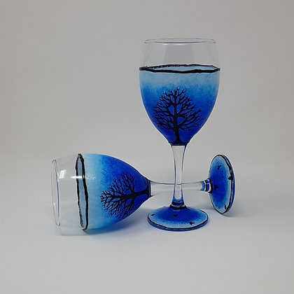Wine glasses: Blue Tree