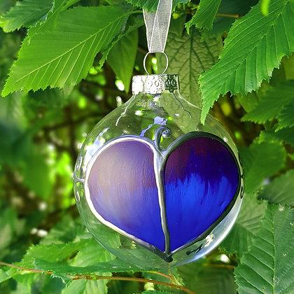 Bauble: Blue Leaf