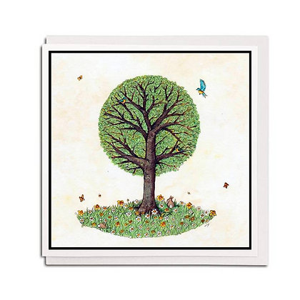 Greetings card: Tree for all Seasons ~ Spring