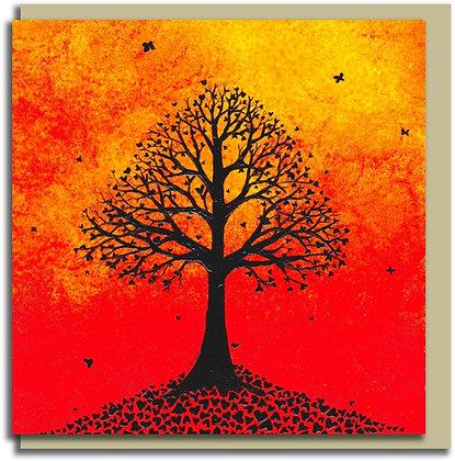 Eco Greetings card: Leaves of Love