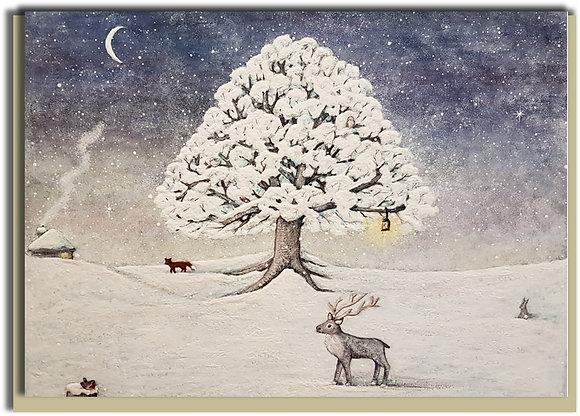 Eco Christmas card: Winter Wonderland