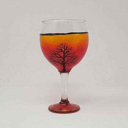 Gin glasses: Orange Tree
