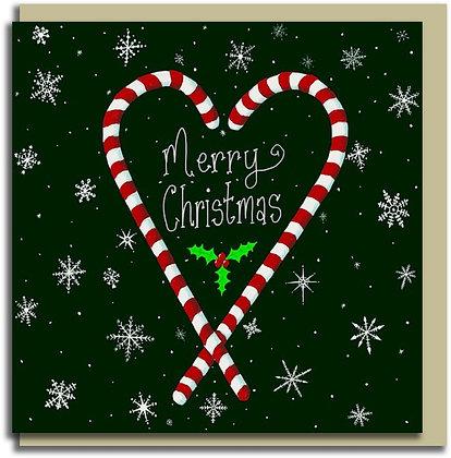 Eco Christmas card: Candy Christmas