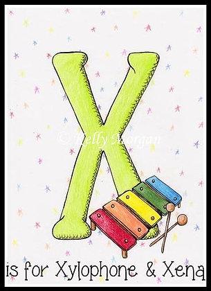 Alphabet print: X is for...