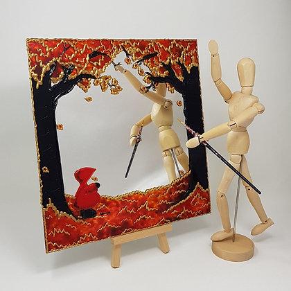 Square mirror: Red Hood Autumn