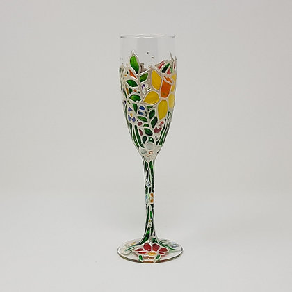 Champagne glasses: Floral