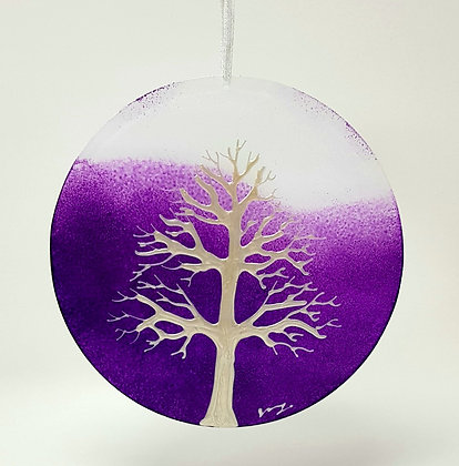 Large suncatcher: Purple Tree