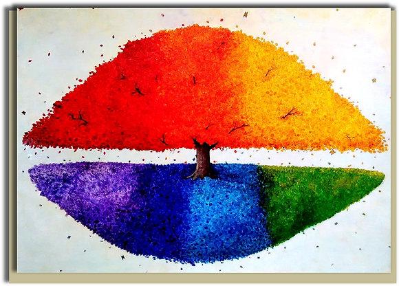 Eco Greetings card: Rainbow Tree