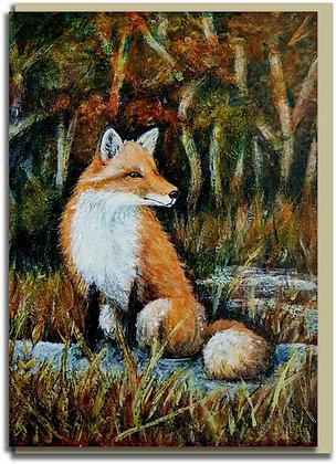 Eco greetings card: Mr Fox
