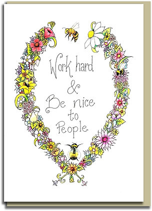 Eco Greetings card: Bee Nice