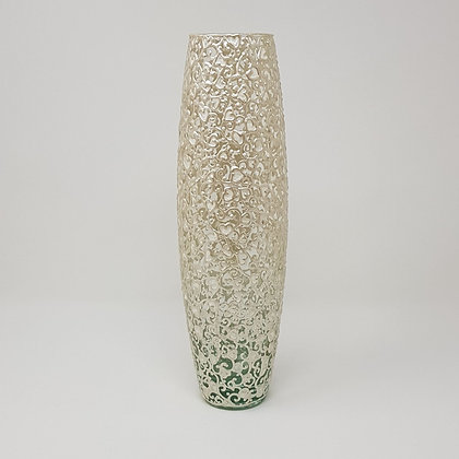 Bullet vase: White Swirl