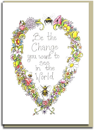 Eco Greetings card: Bee the Change