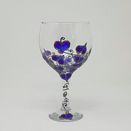 Gin glasses: Blue Leaf