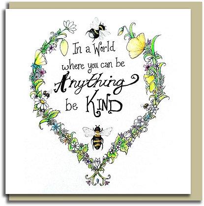 Eco Greetings card: Bee Kind