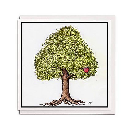 Greetings card: Helping Me Tree