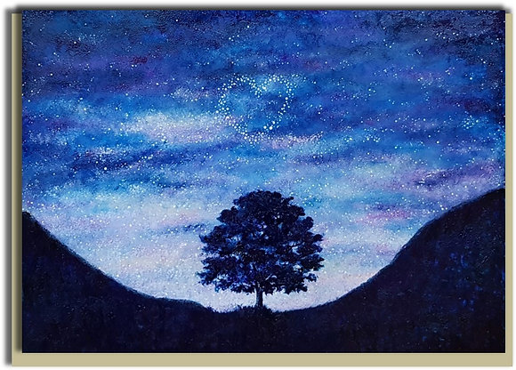 Eco Greetings card: Starry Sycamore