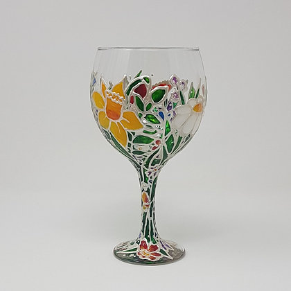 Gin glasses: Floral