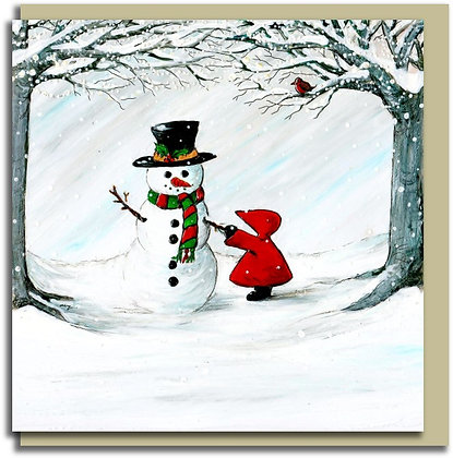 Eco Christmas card: Red Hood ~ Frosty