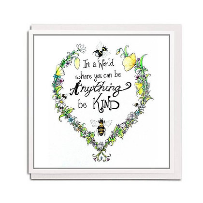 Greetings card: Bee Kind