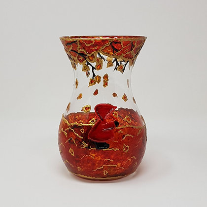 Curvy vase: Red Hood Autumn