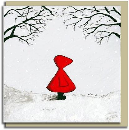 Eco Greetings card: Red Hood ~ Home Soon