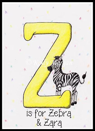 Alphabet print: Z is for...