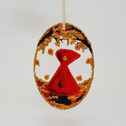 Standard suncatcher: Red Hood Autumn