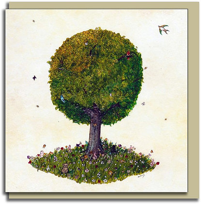 Eco Greetings card: Tree for all Seasons ~ Summer