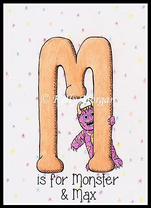 Alphabet print: M is for...