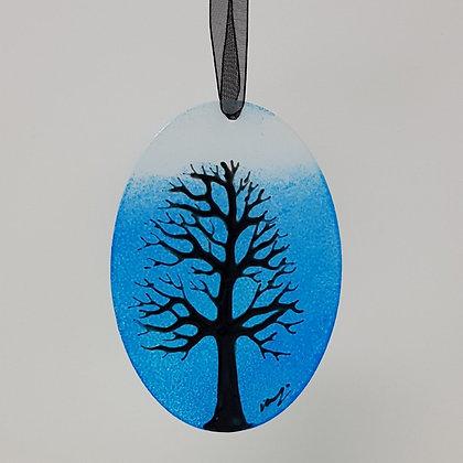 Standard suncatcher: Blue Tree