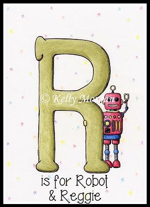 Alphabet print: R is for...