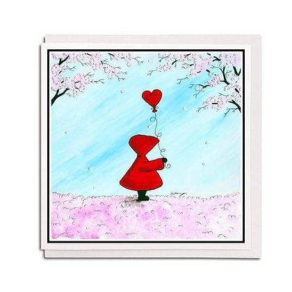 Greetings card: Red Hood ~ Love Blossom