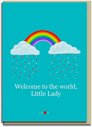Eco Greetings card: Welcome, Little Lady